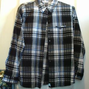 Size M/L  Plaid button down shirt